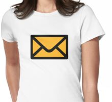 Letter mail envelope Womens Fitted T-Shirt