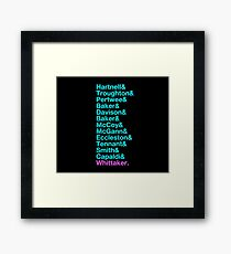 The Newest 13th - The 13 Doctors from Hartnell to Whittaker Framed Print