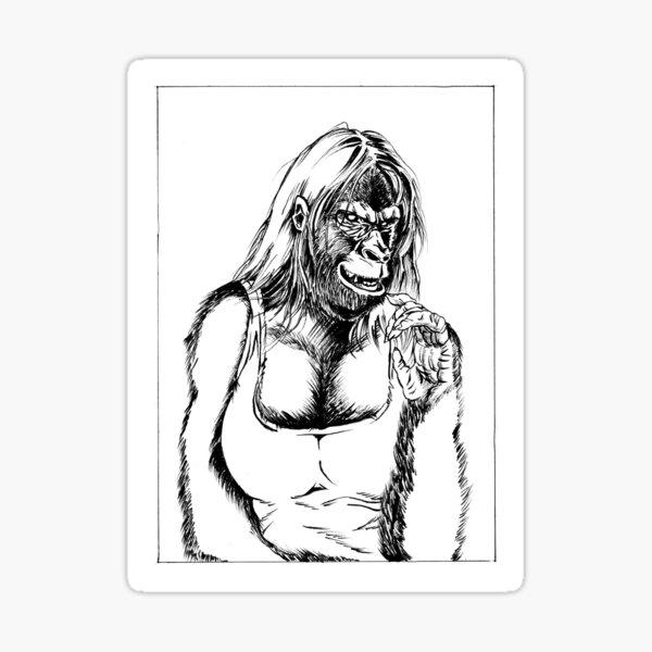 Gorilla Girl Sticker