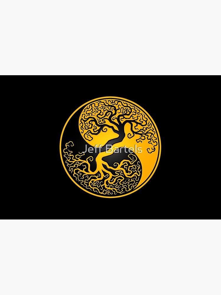 Gelber und schwarzer Baum des Lebens Yin Yang von JeffBartels