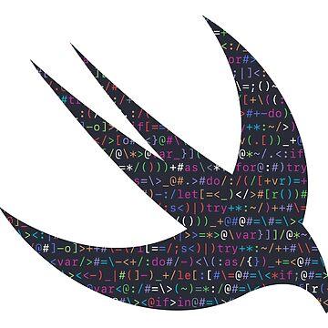 ASCII Swift (Dark Version, Large Font Size) by kentliau