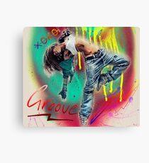 Hip Hop Dance Art Canvas Print