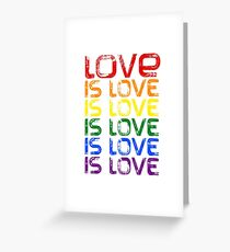 Love Is Love Art Design Greeting Card