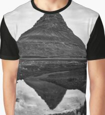 Kirkjufell Reflection - Black & White Graphic T-Shirt