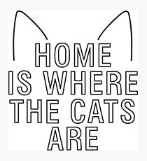 home is where the cats are - with ears Photographic Print