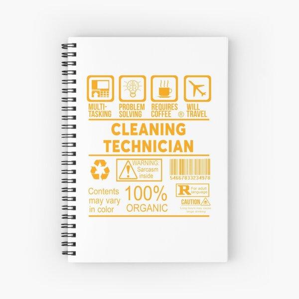 CLEANING TECHNICIAN - NICE DESIGN 2017 Spiral Notebook