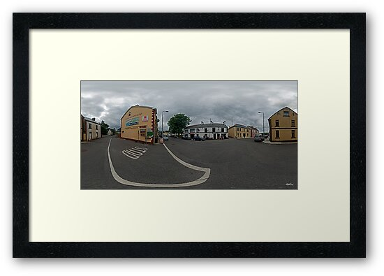 Carrick Crossroads, Donegal(Rectangular)  by George Row