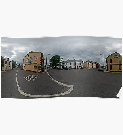 Carrick Crossroads, Donegal(Rectangular)  Poster