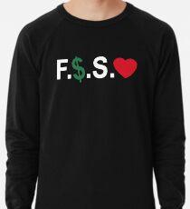 Fuck Money Spread Love [White] Lightweight Sweatshirt