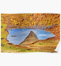 Abstract Kirkjufell Reflection Poster