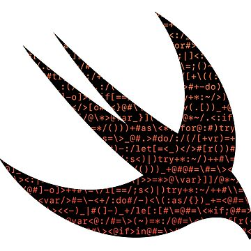 ASCII Swift (Monochrome ASCII, Dark Version, Large Font Size) by kentliau