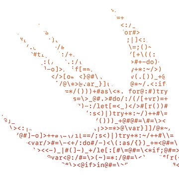ASCII Swift (Monochrome ASCII, Light Version, Large Font Size) by kentliau