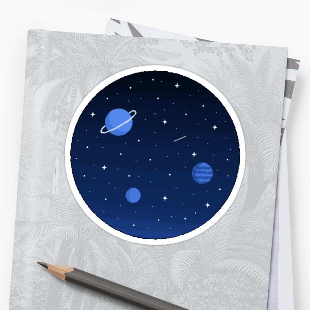 Pixel Outer Space  by nikki ray