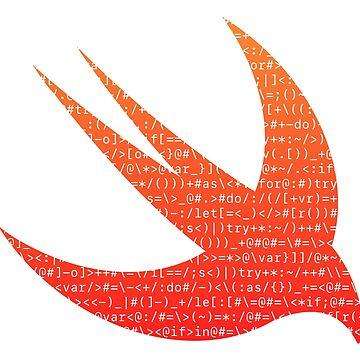 ASCII Swift (White ASCII, Classic Version, Large Font Size) by kentliau
