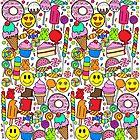 Süßigkeiten-Collage von Corey Paige Designs