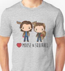 Love Moose & Squirrel - Supernatural T-Shirt