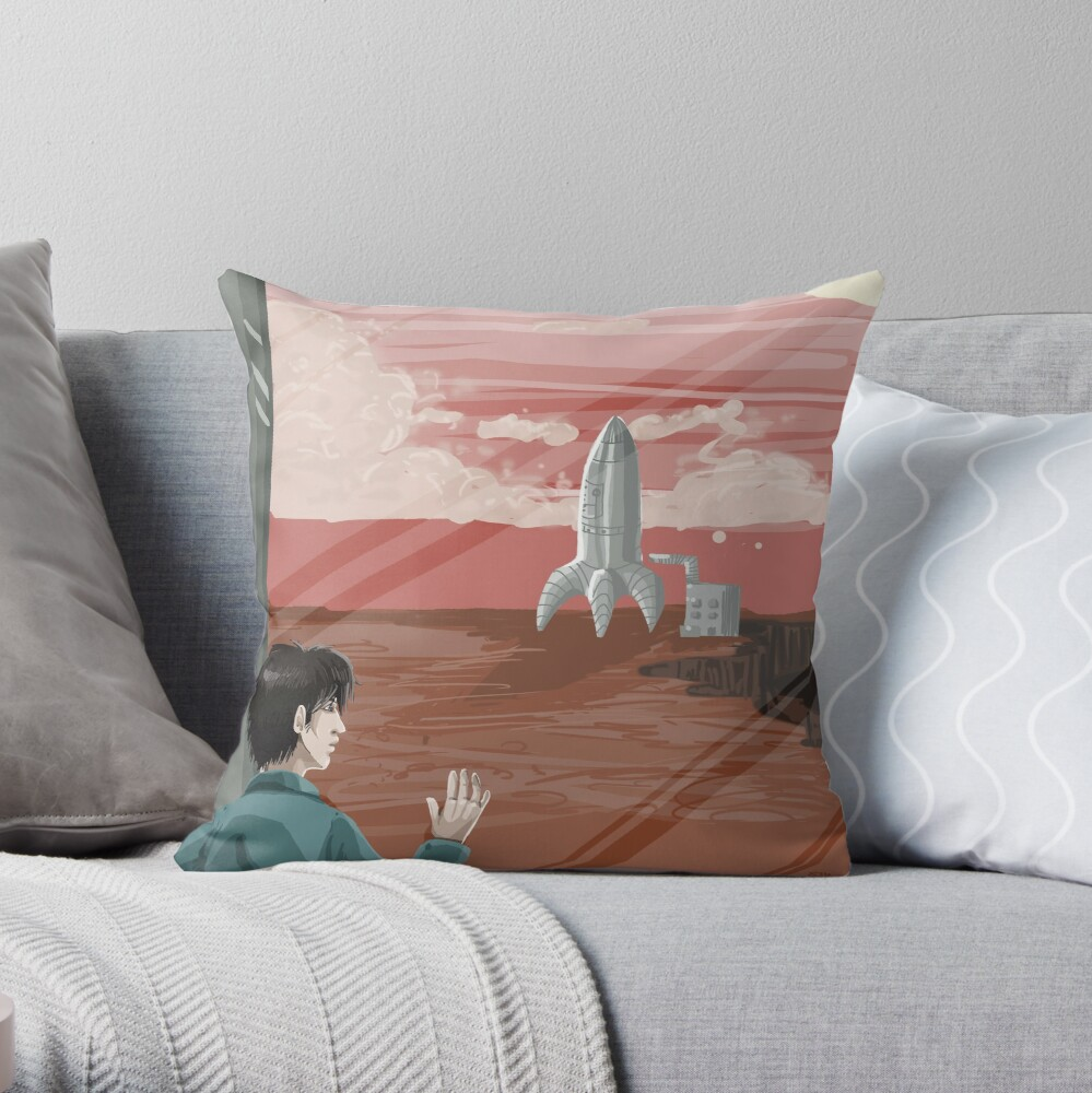 Get Your Butt to Mars Throw Pillow