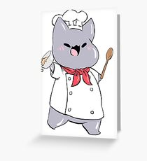 Chef Cat Greeting Card