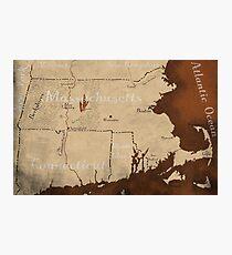 Massachusetts Fantasy Map Photographic Print