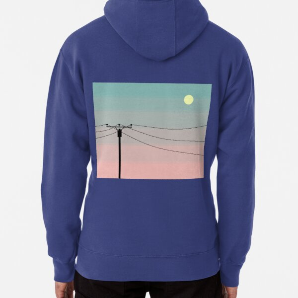Coral Sunset Pullover Hoodie
