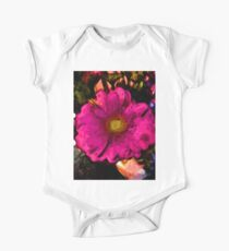 Pink Flower with a Gold Heart Kids Clothes