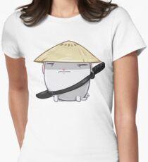 Samurai Bun Women's Fitted T-Shirt