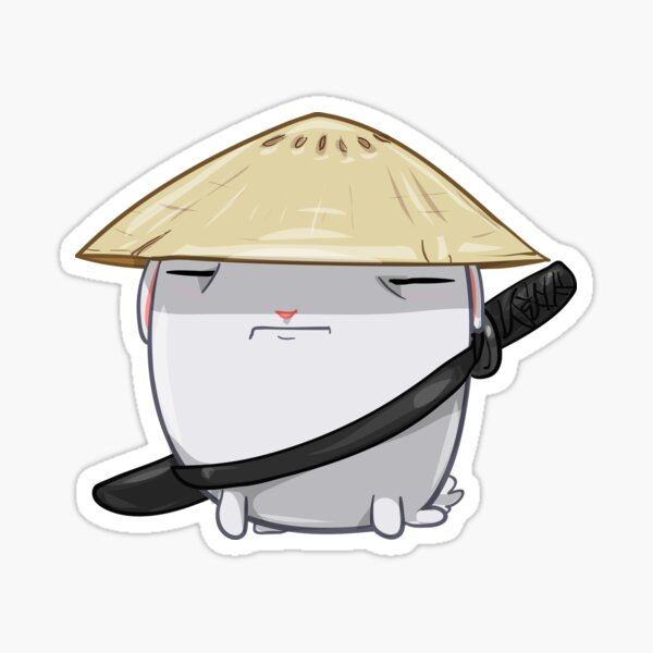Samurai Bun Sticker