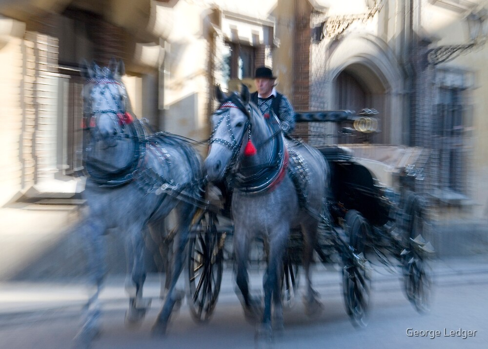 Horses and carriage by George Ledger
