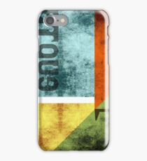 Abstract Industrial Art - Blue Gold iPhone Case/Skin