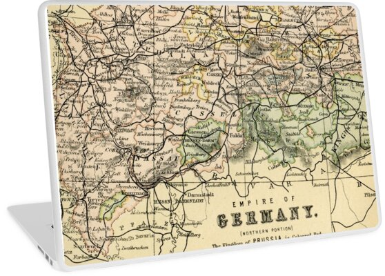 Map Of Germany In 1800.Empire Of Germany Old Vintage Map 1800 Laptop Skins By Chocodole