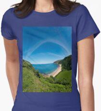Kinnagoe Bay Panorama Women's Fitted T-Shirt