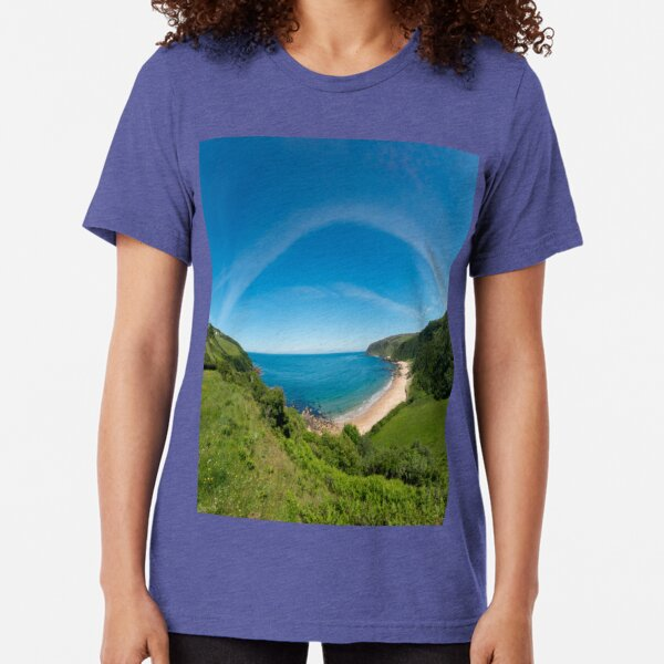 Kinnagoe Bay Panorama Tri-blend T-Shirt