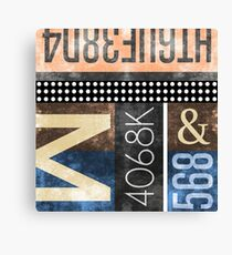 Abstract Industrial Art - Typography Canvas Print