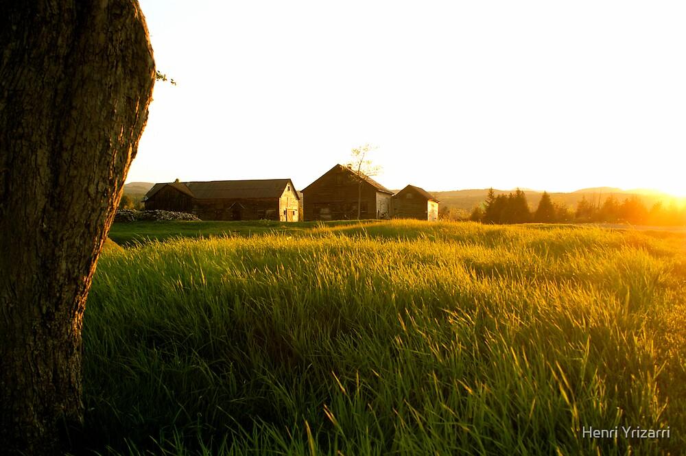 Sunset Barn by Henri Irizarri