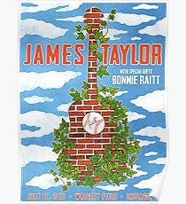 james taylor Wrigley field July 17 2017 chicago Poster