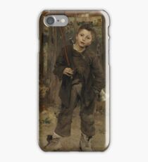 Nothing Doing 1882 Jules Bastien Lepage iPhone Case/Skin