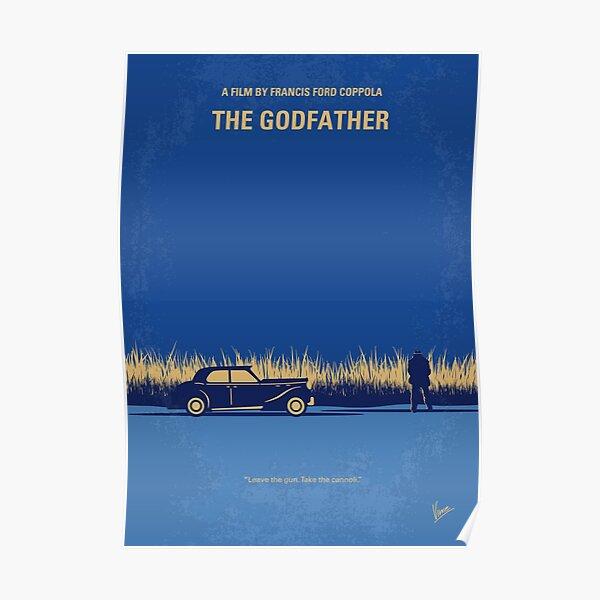 No686-1- Godfather I affiche du film minimal Poster