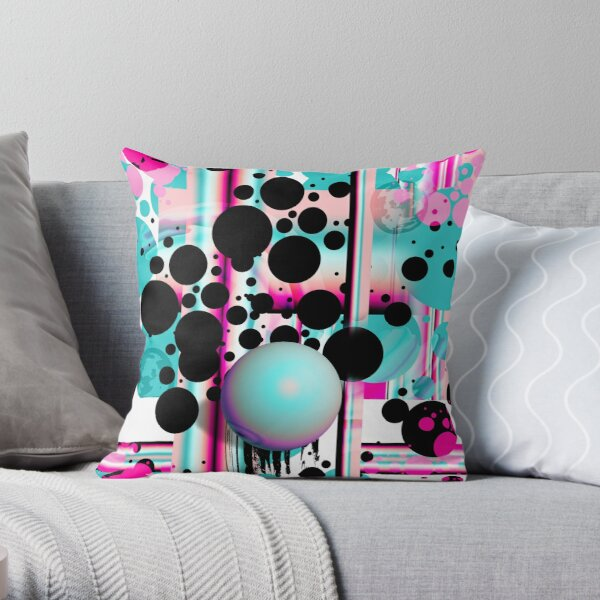 Effervescent Confetti Throw Pillow