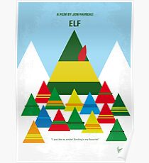 No699- ELF minimal movie poster Poster