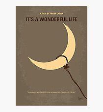 No700- Its a Wonderful Life minimal movie poster Photographic Print