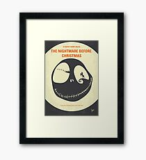 No712- The Nightmare Before Christmas minimal movie poster Framed Print