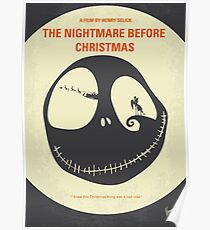 No712- The Nightmare Before Christmas minimal movie poster Poster