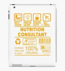 NUTRITION CONSULTANT - NICE DESIGN 2017 iPad Case/Skin