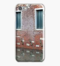 Brick house in the water and boat in Venice, Italy iPhone Case/Skin