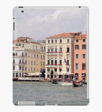 6 June 2017 Beautiful buildings near the canal and boats in the water in Canal Grande in Venice, Italy iPad Case/Skin