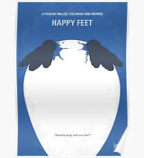 No744- Happy Feet minimal movie poster Poster
