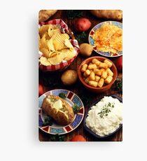 Potato Foods Canvas Print
