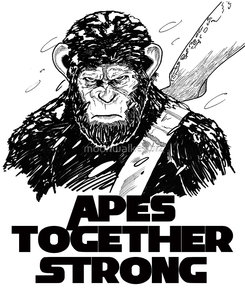 Caesar: Apes Together Strong by moonwalkerwiz