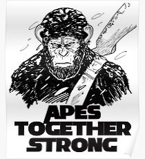 Caesar: Apes Together Strong Poster