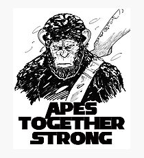 Caesar: Apes Together Strong Photographic Print